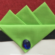 Green (Lime) Three Point Pocket Hankie & Pin